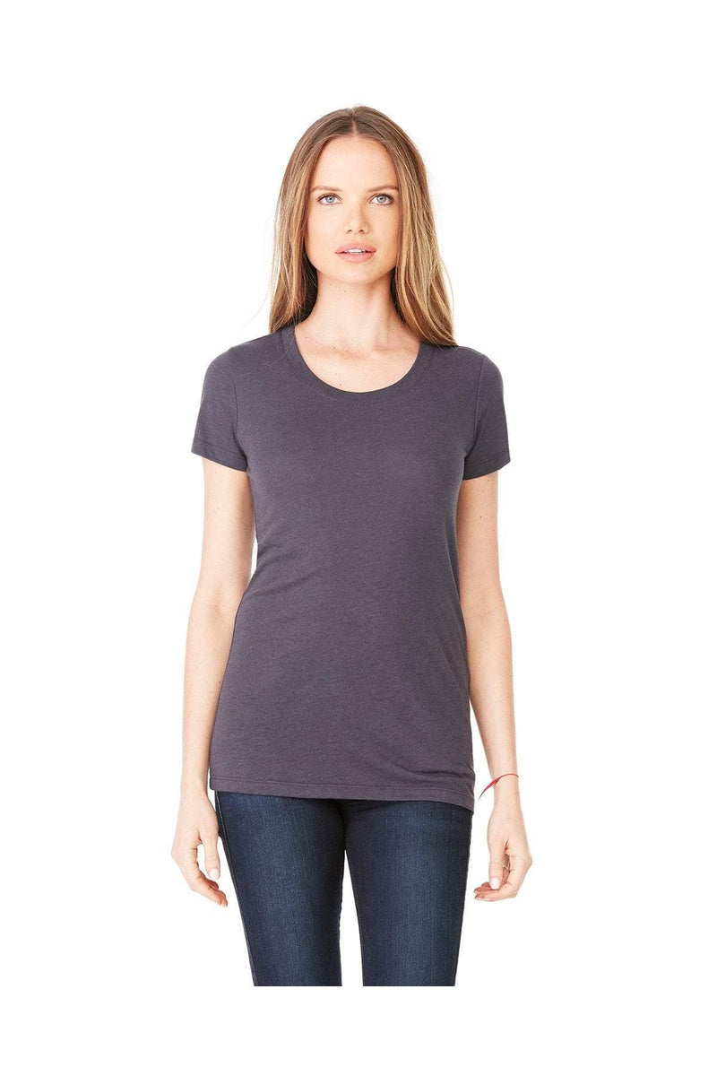 Bella+Canvas B8413: Ladies' Triblend Short-Sleeve T-Shirt, Basic Colors-T-Shirts-Bulkthreads.com, Wholesale T-Shirts and Tanks