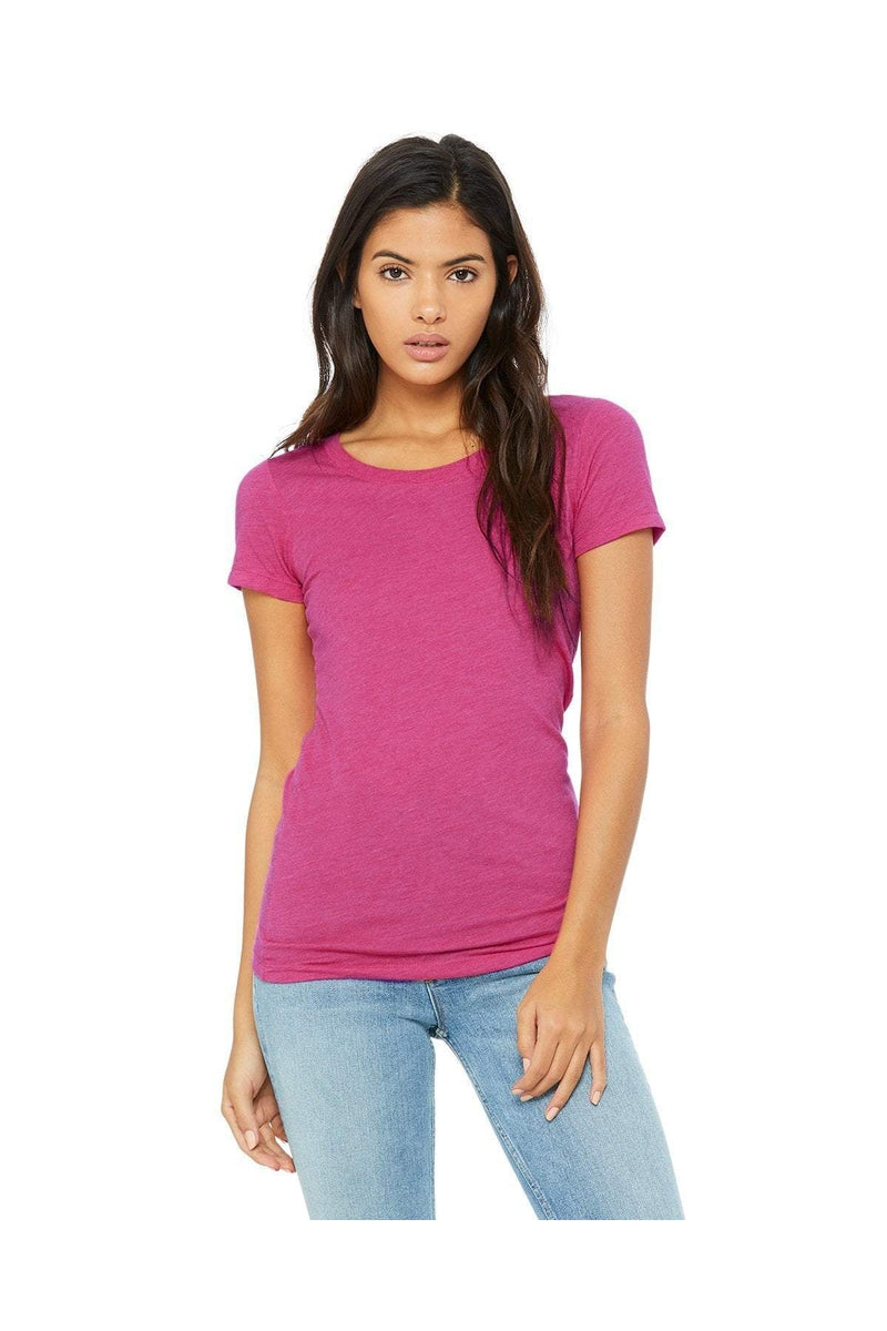 Bella+Canvas B8413: Ladies' Triblend Short-Sleeve T-Shirt-T-Shirts-Bulkthreads.com, Wholesale T-Shirts and Tanks