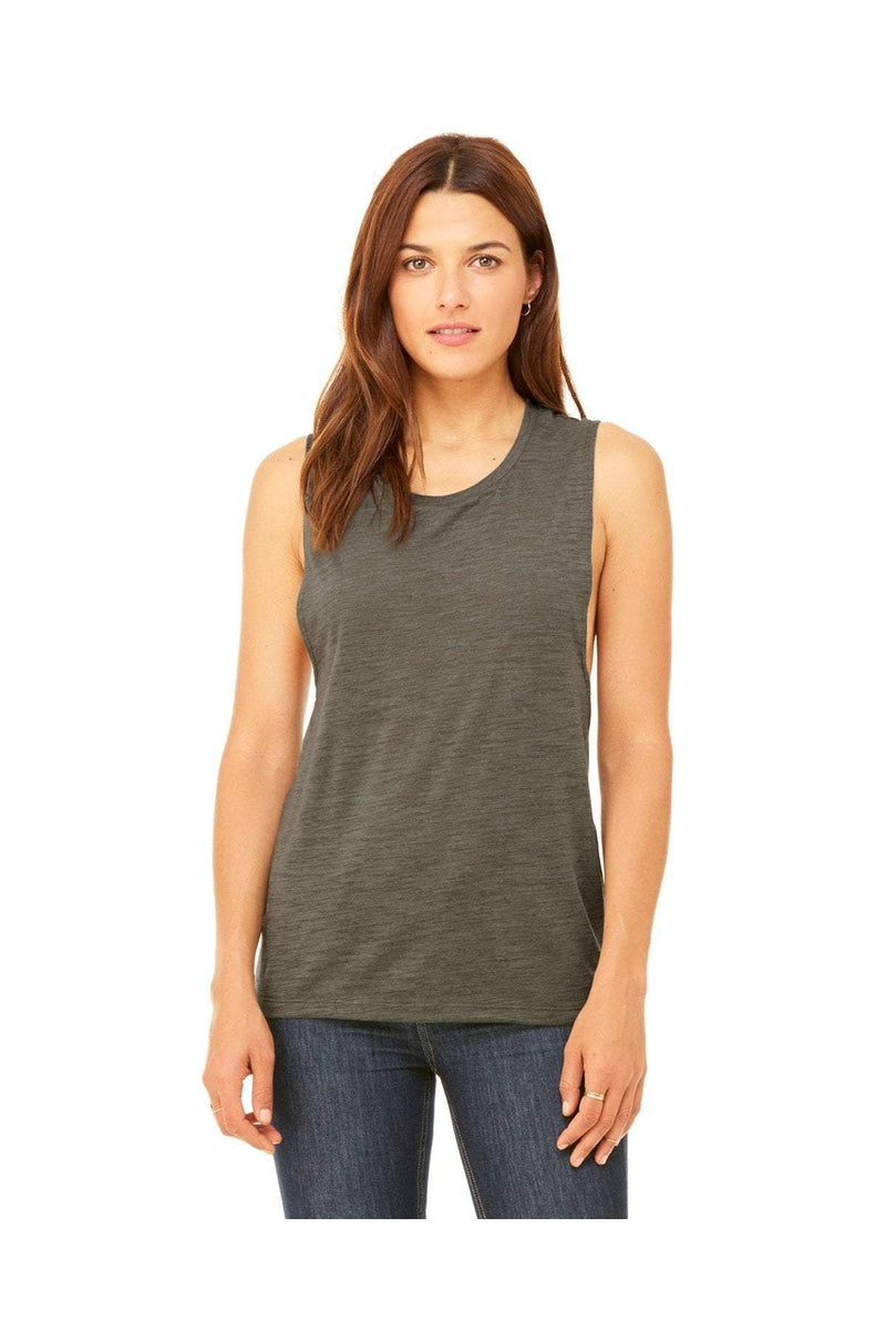 Bella+Canvas B8803: Ladies' Flowy Scoop Muscle Tank, Basic Colors-T-Shirts-Bulkthreads.com, Wholesale T-Shirts and Tanks