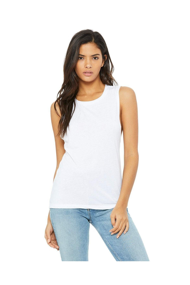 Bella+Canvas B8803: Ladies' Flowy Scoop Muscle Tank-Bella+Canvas-Bulkthreads.com