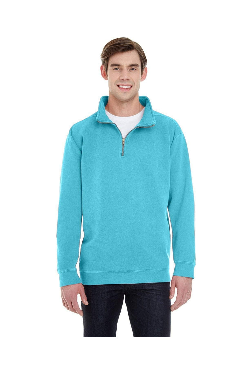 Comfort Colors 1580: Adult Quarter-Zip Sweatshirt-Sweatshirts-Bulkthreads.com, Wholesale T-Shirts and Tanks