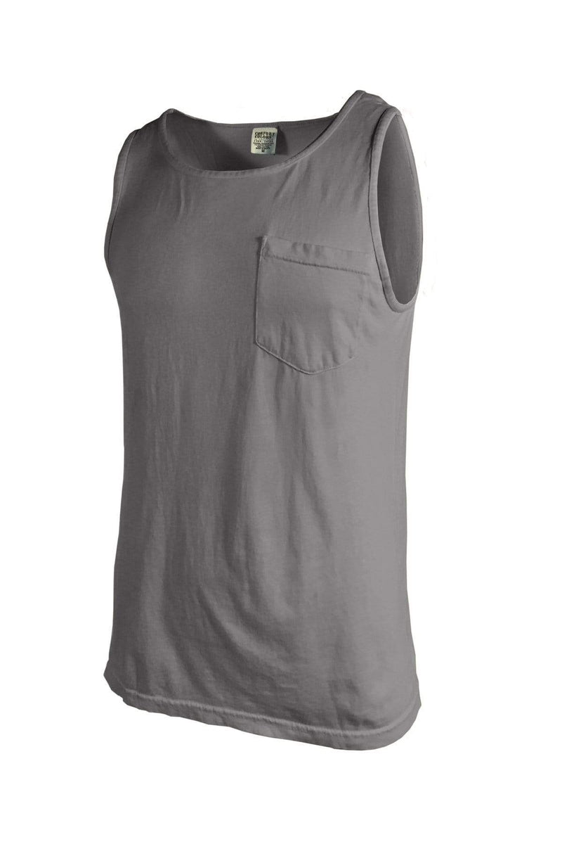 Comfort Colors 9330: Adult Heavyweight RS Pocket Tank, Basic Colors-T-Shirts-Bulkthreads.com, Wholesale T-Shirts and Tanks