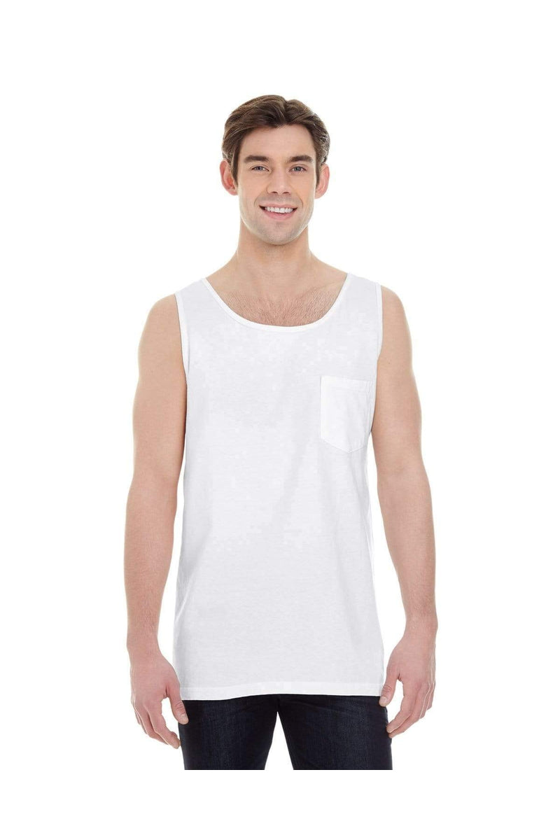 Comfort Colors 9330: Adult Heavyweight RS Pocket Tank-T-Shirts-Bulkthreads.com, Wholesale T-Shirts and Tanks
