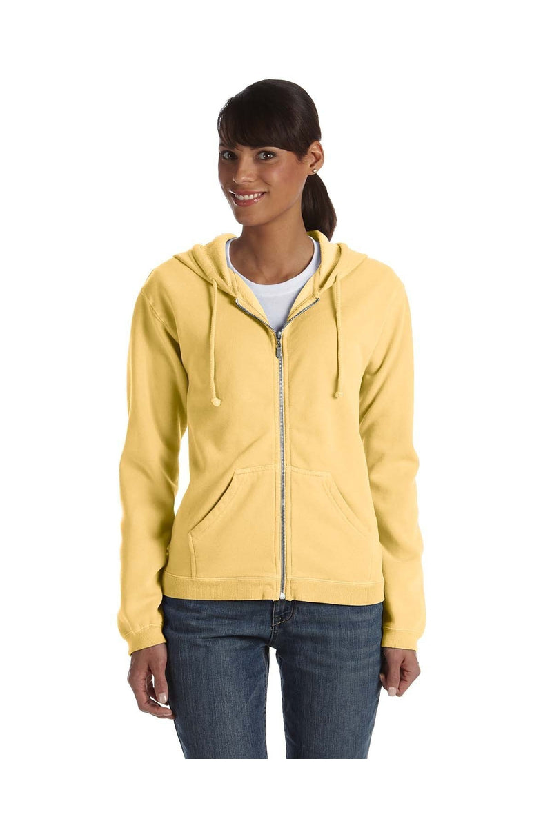 Comfort Colors C1598: Ladies' Full-Zip Hooded Sweatshirt-Sweatshirts-Bulkthreads.com, Wholesale T-Shirts and Tanks