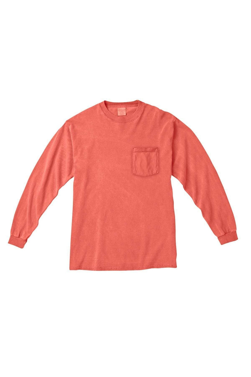 Comfort Colors C4410: Adult Heavyweight RS Long-Sleeve Pocket T-Shirt, Basic Colors-T-Shirts-Bulkthreads.com, Wholesale T-Shirts and Tanks