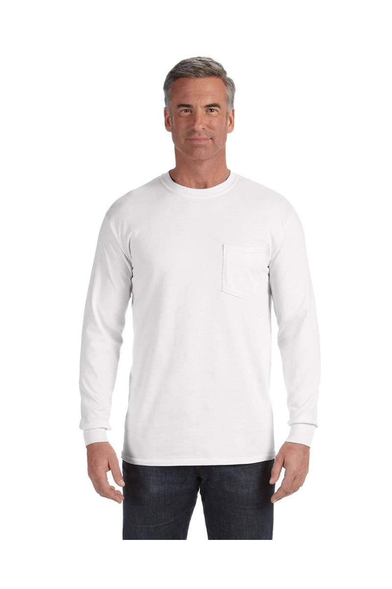 Comfort Colors C4410: Adult Heavyweight RS Long-Sleeve Pocket T-Shirt-T-Shirts-Bulkthreads.com, Wholesale T-Shirts and Tanks