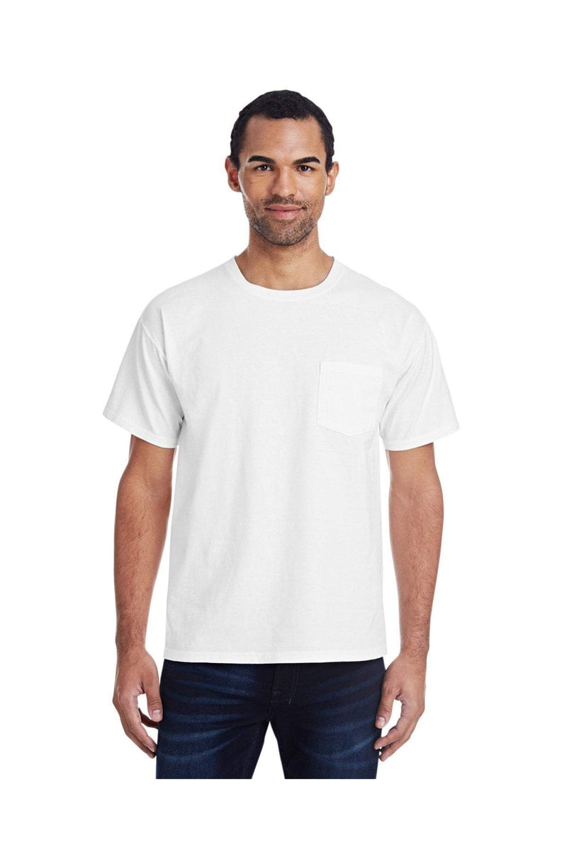 ComfortWash by Hanes GDH150: Unisex 5.5 oz., 100% Ringspun Cotton Garment-Dyed T-Shirt with Pocket-ComfortWash by Hanes-Bulkthreads.com