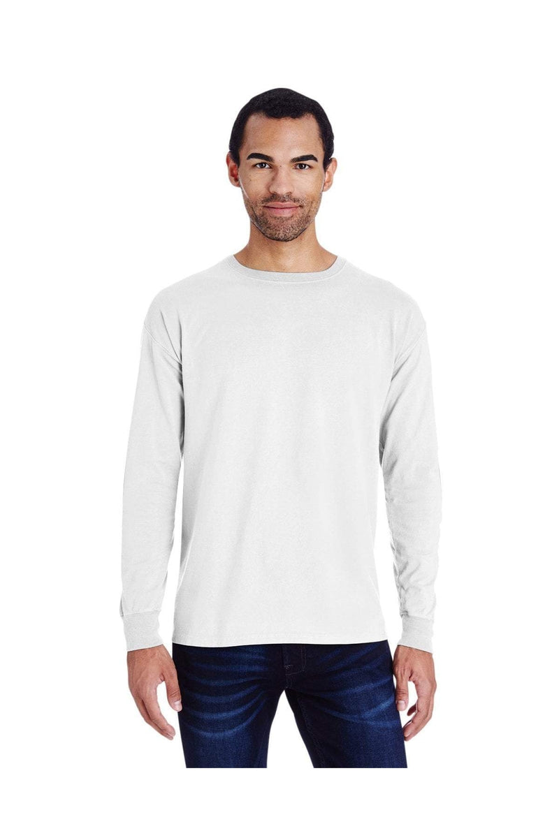 ComfortWash by Hanes GDH200: Unisex 5.5 oz., 100% Ringspun Cotton Garment-Dyed Long-Sleeve T-Shirt-ComfortWash by Hanes-Bulkthreads.com