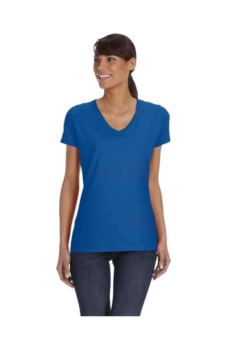 Fruit of the Loom L39VR: Ladies 5 oz HD Cotton V-Neck T-Shirt-Women's T-Shirts-Bulkthreads.com, Wholesale T-Shirts and Tanks