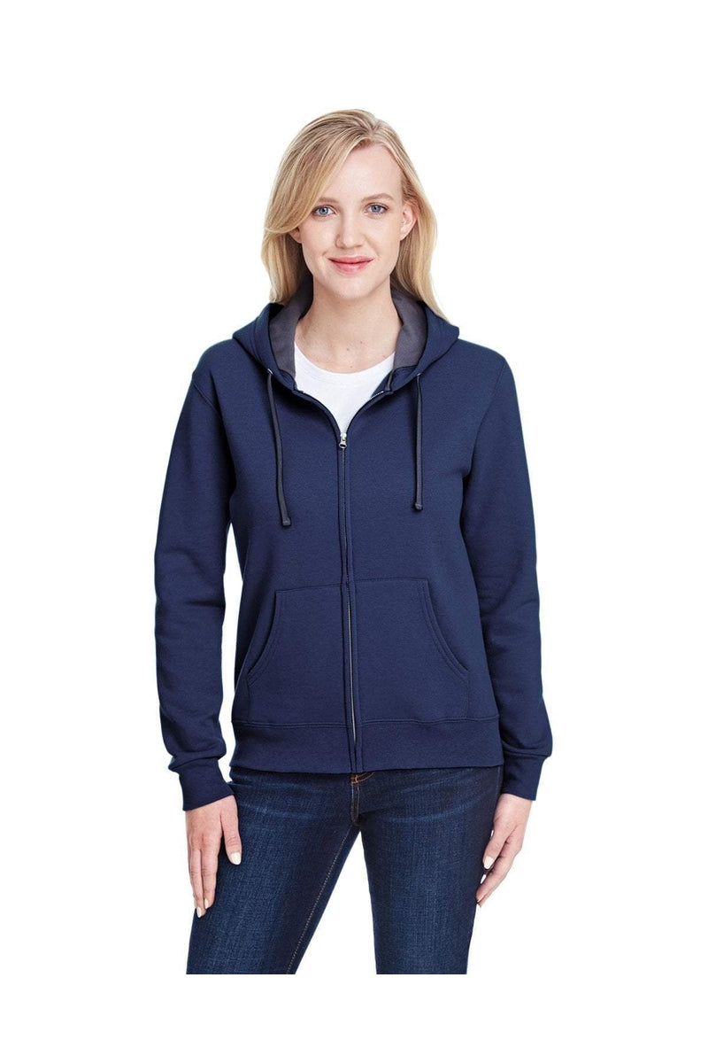 Fruit of the Loom LSF73R: Ladies' 7.2 oz. Sofspun(r) Full-Zip Hooded Sweatshirt-Sweatshirts-Bulkthreads.com, Wholesale T-Shirts and Tanks