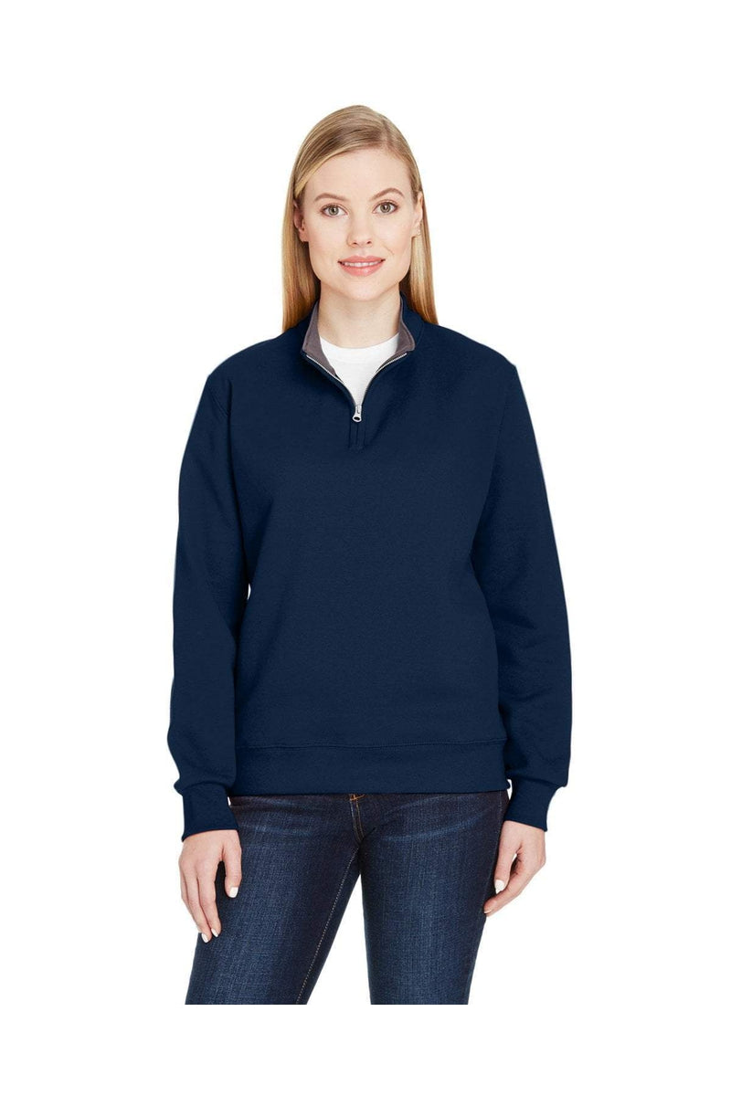 Fruit of the Loom LSF95R: Ladies' 7.2 oz. Sofspun(r) Quarter-Zip Sweatshirt-Sweatshirts-Bulkthreads.com, Wholesale T-Shirts and Tanks