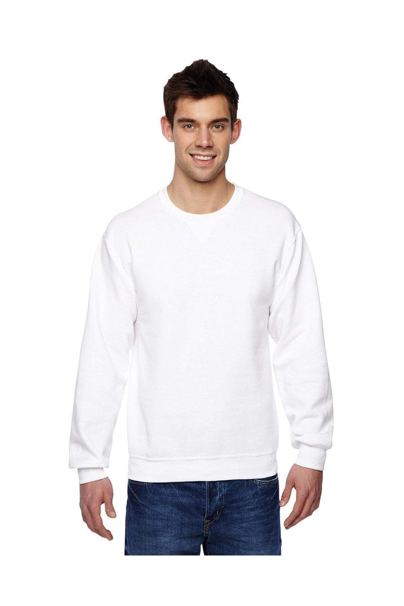 Fruit of the Loom SF72R: Adult 7.2 oz. SofSpun(r) Crewneck Sweatshirt-Sweatshirts-Bulkthreads.com, Wholesale T-Shirts and Tanks