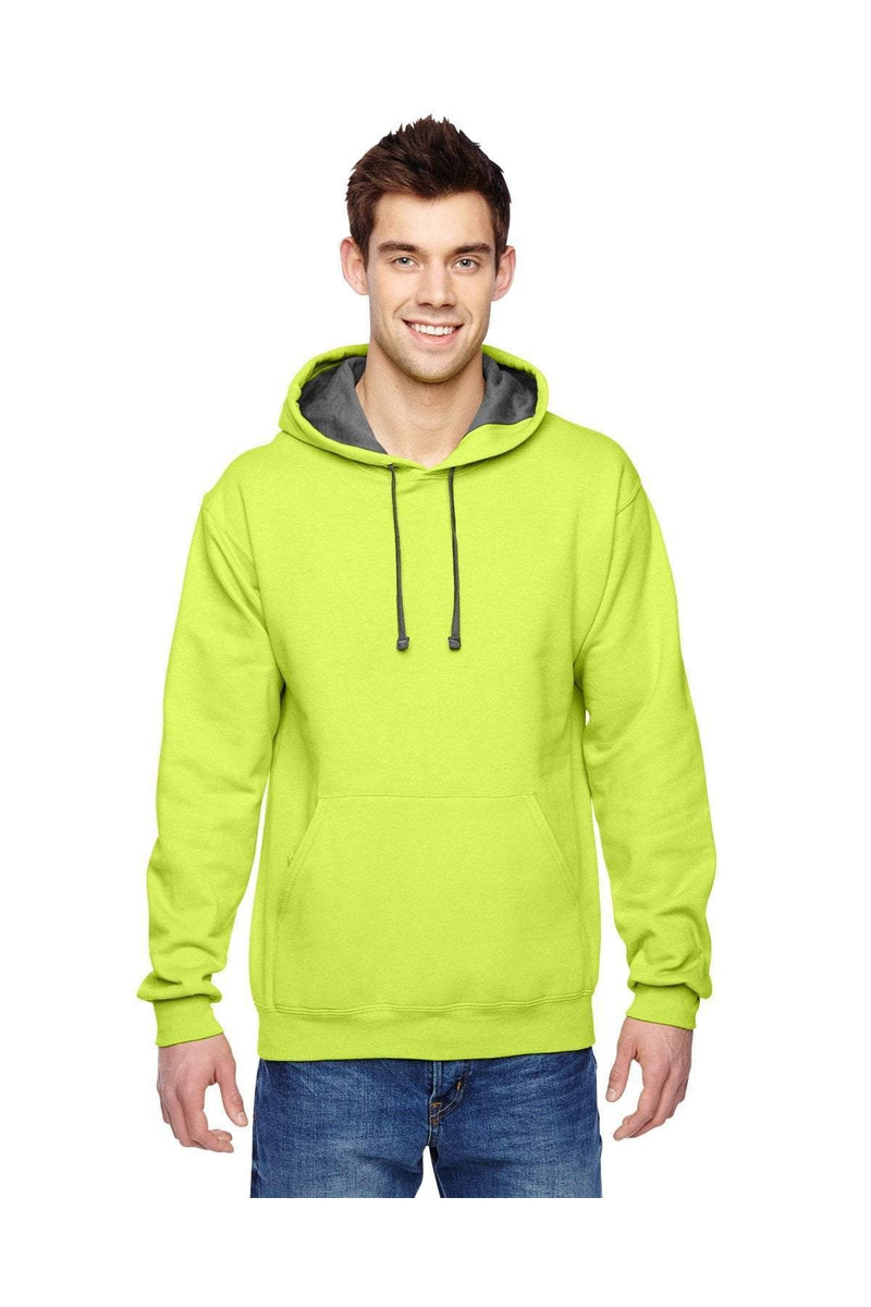 Fruit of the Loom SF76R: Adult 7.2 oz. SofSpun(r) Hooded Sweatshirt, Basic Colors-Sweatshirts-Bulkthreads.com, Wholesale T-Shirts and Tanks