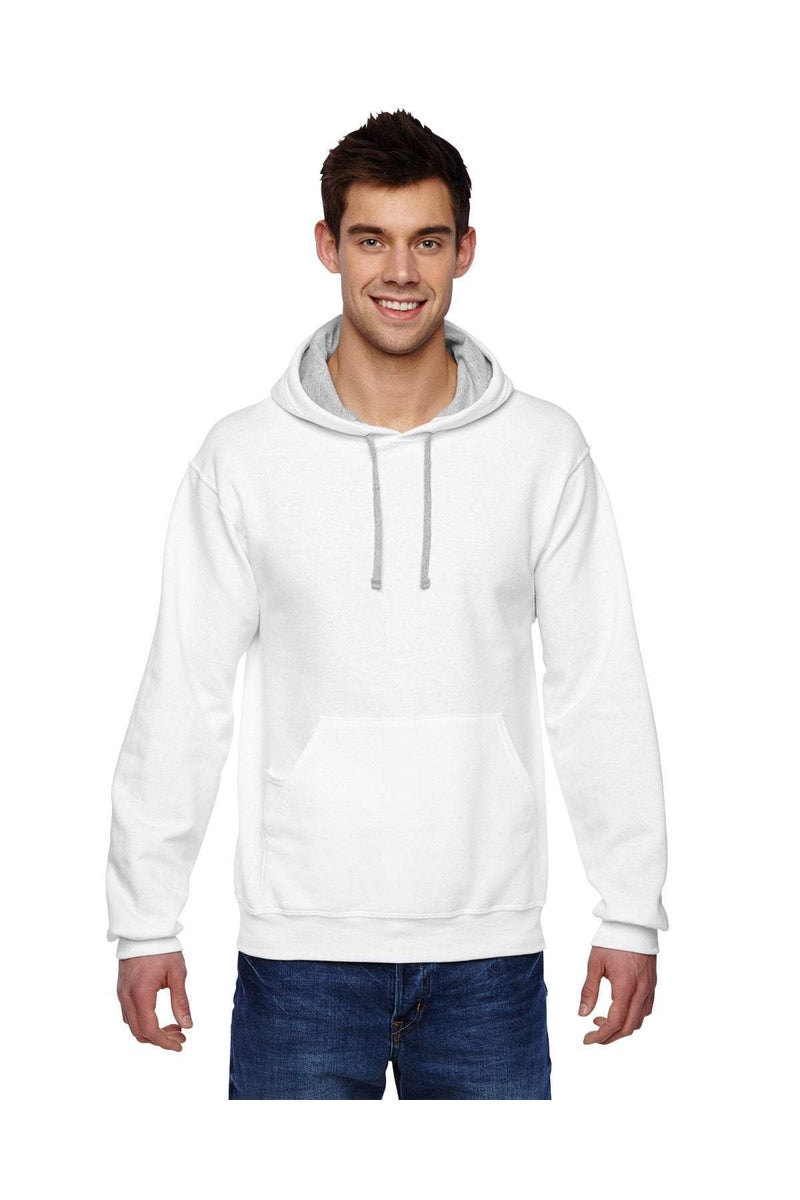 Fruit of the Loom SF76R: Adult 7.2 oz. SofSpun(r) Hooded Sweatshirt-Sweatshirts-Bulkthreads.com, Wholesale T-Shirts and Tanks