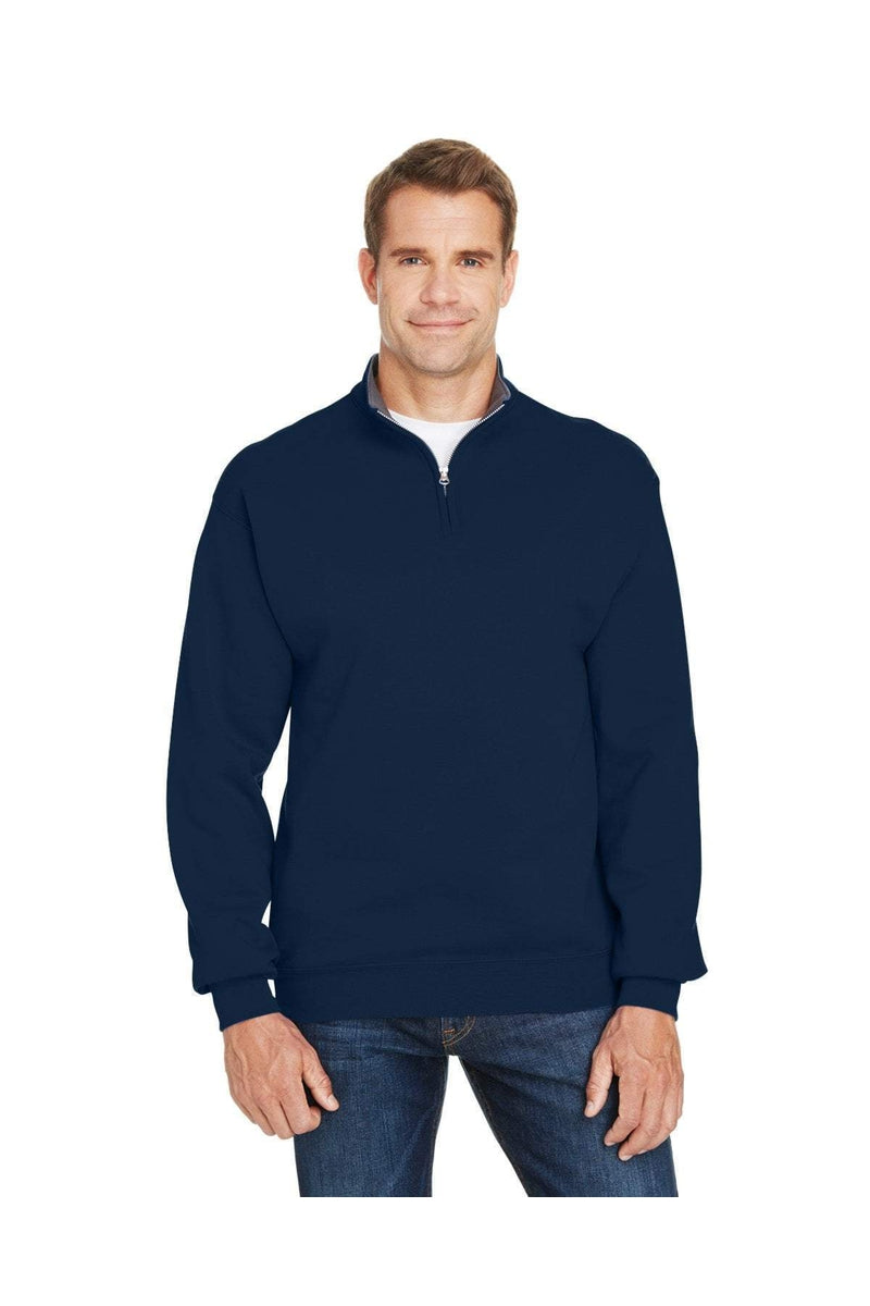 Fruit of the Loom SF95R: Adult 7.2 oz. Sofspun(r) Quarter-Zip Sweatshirt-Sweatshirts-Bulkthreads.com, Wholesale T-Shirts and Tanks