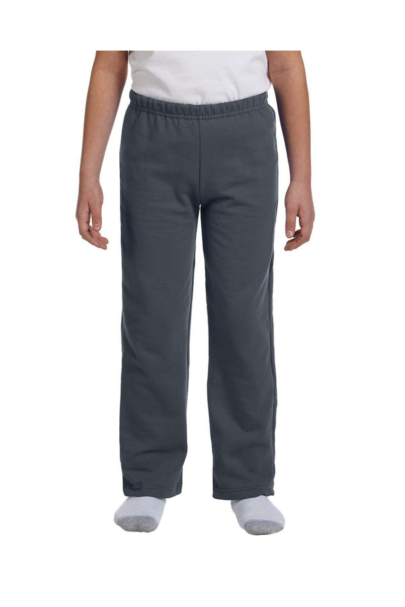 Gildan G184B: Youth Heavy Blend(tm) 8 oz., 50/50 Open-Bottom Sweatpants-Gildan-Bulkthreads.com