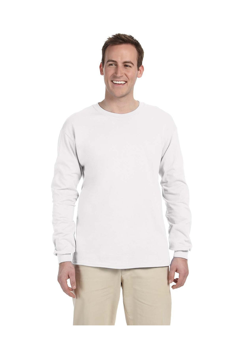 Gildan G240: Adult Ultra Cotton® 6 oz. Long-Sleeve T-Shirt, Basic Colors-T-Shirts-Bulkthreads.com, Wholesale T-Shirts and Tanks