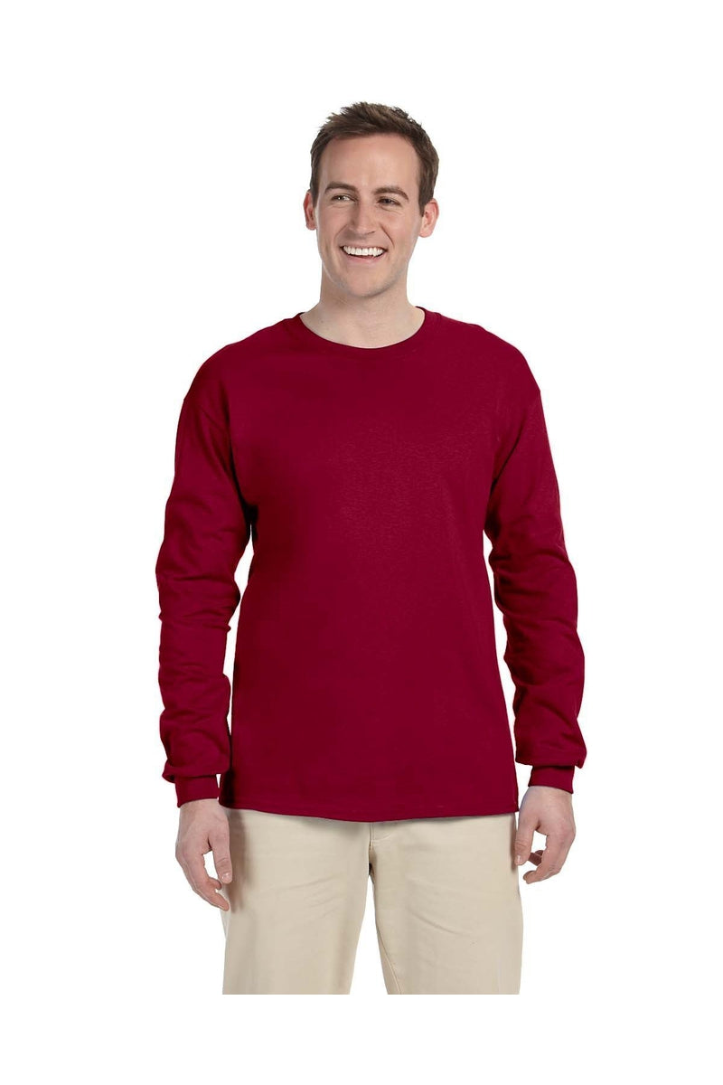 Gildan G240: Adult Ultra Cotton® 6 oz. Long-Sleeve T-Shirt, Traditional Colors-T-Shirts-Bulkthreads.com, Wholesale T-Shirts and Tanks