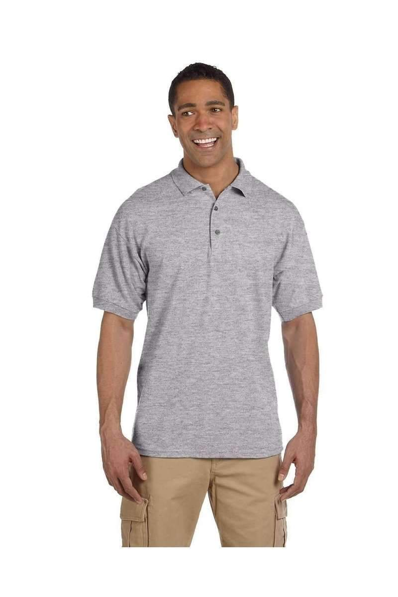 Gildan G380: Men's Ultra Cotton Pique Polo-Men's Polo Shirt-Gildan-S-Sport Grey-wholesale t shirts -Bulkthreads.com