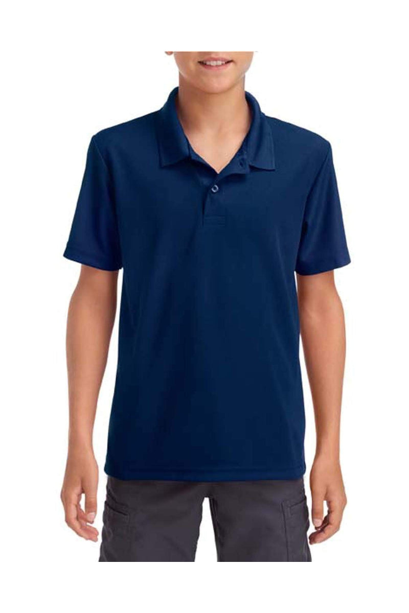 Gildan G458B: Performance(r) Youth 5.6 oz. Double Pique Polo-Polos-Bulkthreads.com, Wholesale T-Shirts and Tanks