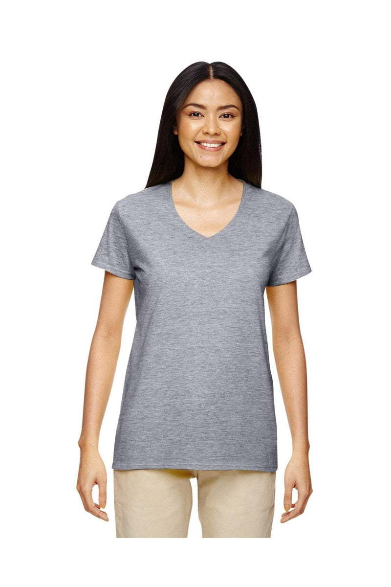 Gildan G500VL: Ladies' 5.3 oz. V-Neck T-Shirt, Basic Colors-Gildan-Bulkthreads.com