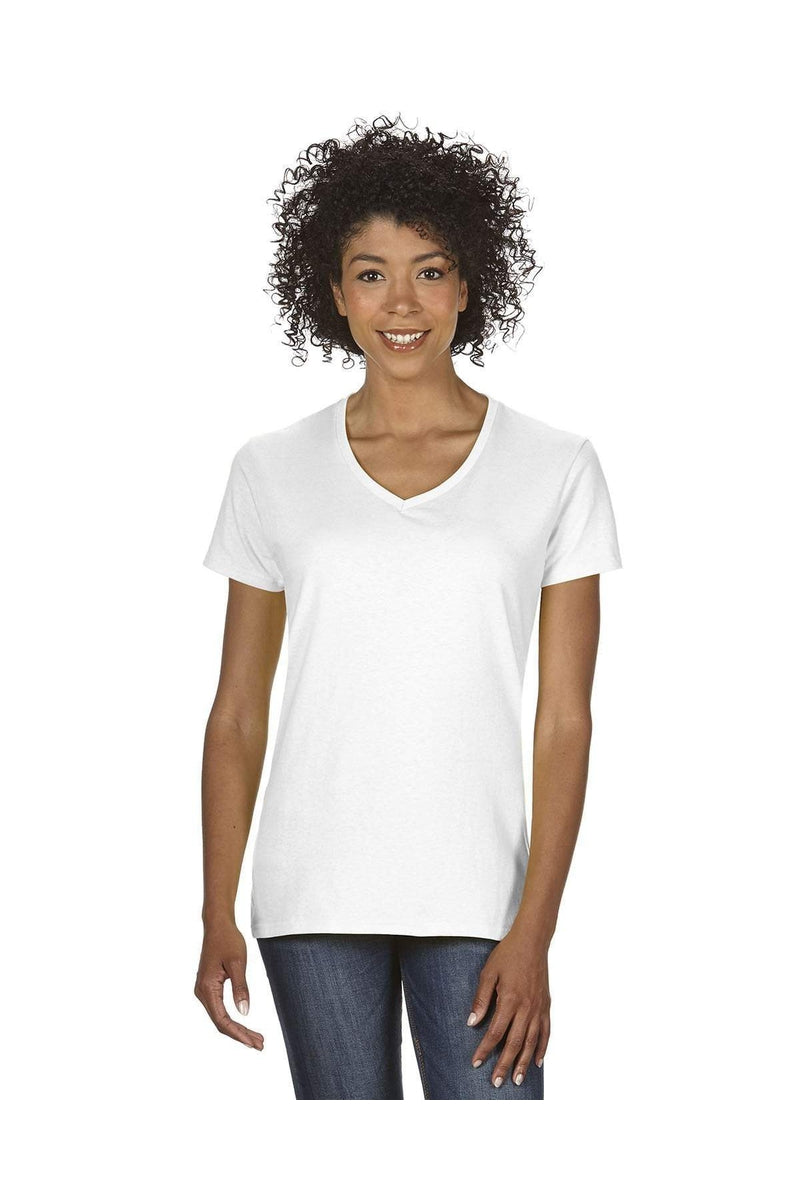 Gildan G500VL: Ladies' 5.3 oz. V-Neck T-Shirt-Gildan-Bulkthreads.com