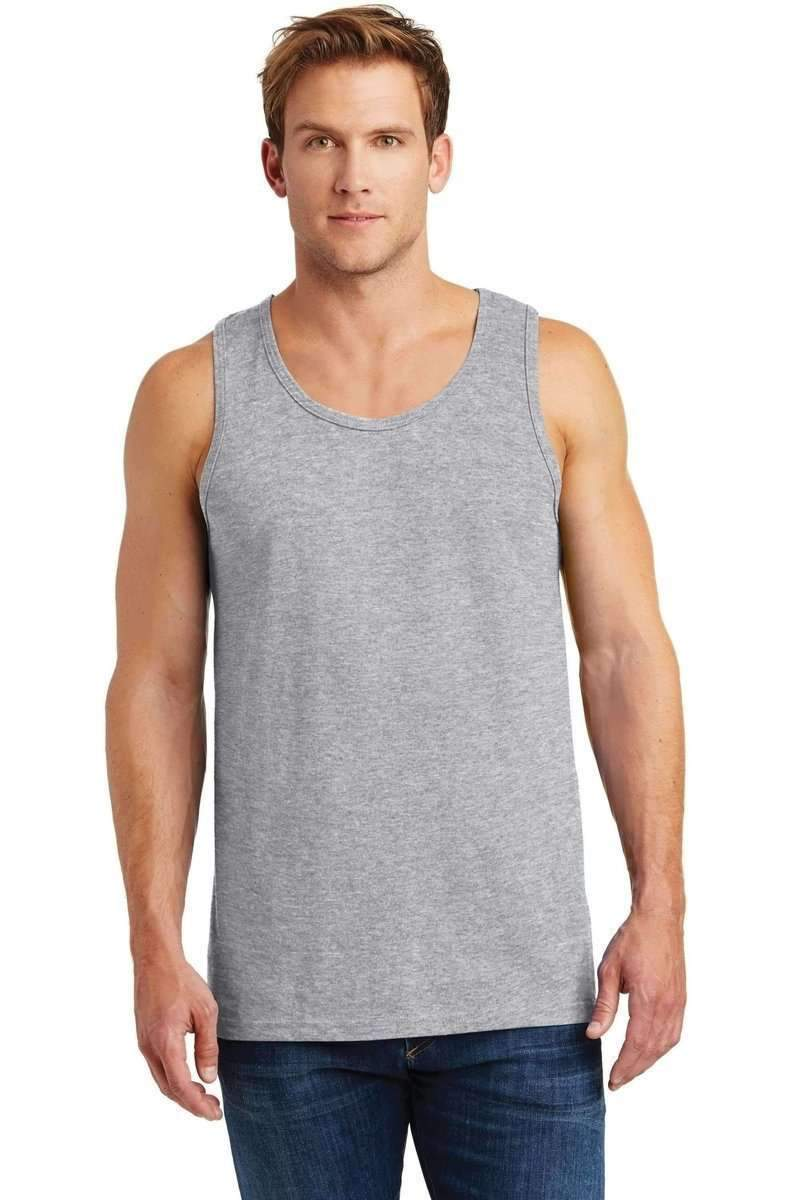 Gildan G520: Tank Top Heavy Cotton-Men's T-shirt-Gildan-XS-Sport Grey-wholesale t shirts -Bulkthreads.com