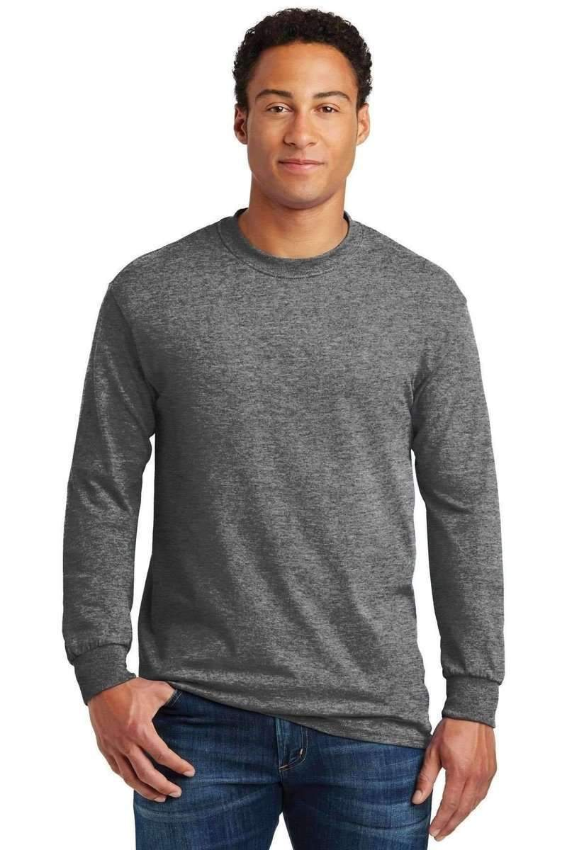 Gildan G540: Heavy, 100% Cotton Long Sleeve T-Shirt-T-Shirts-Bulkthreads.com, Wholesale T-Shirts and Tanks
