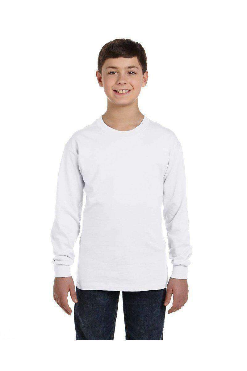 Gildan G540B: Long-Sleeve T-Shirt for Youth-Youth T-shirt-Bulkthreads.com, Wholesale T-Shirts and Tanks