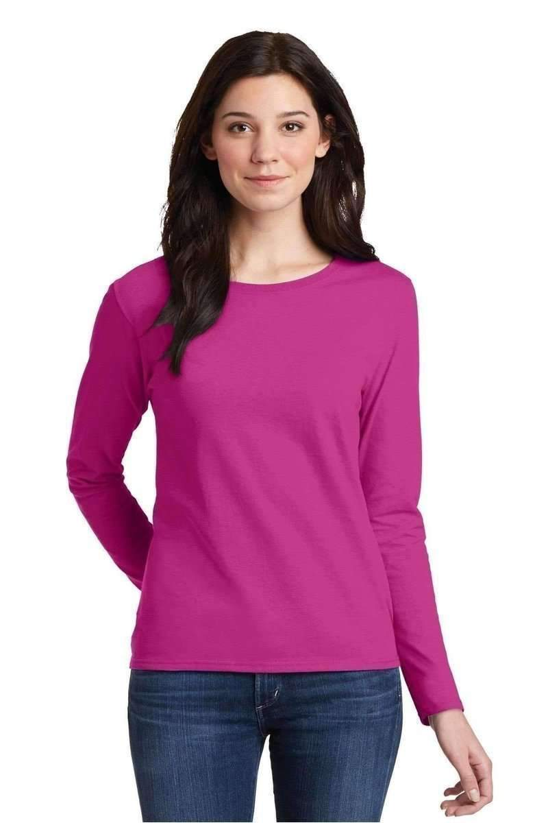 Gildan G540L: Ladies, 100% Cotton Long Sleeve T-Shirt-Ladies-Bulkthreads.com, Wholesale T-Shirts and Tanks