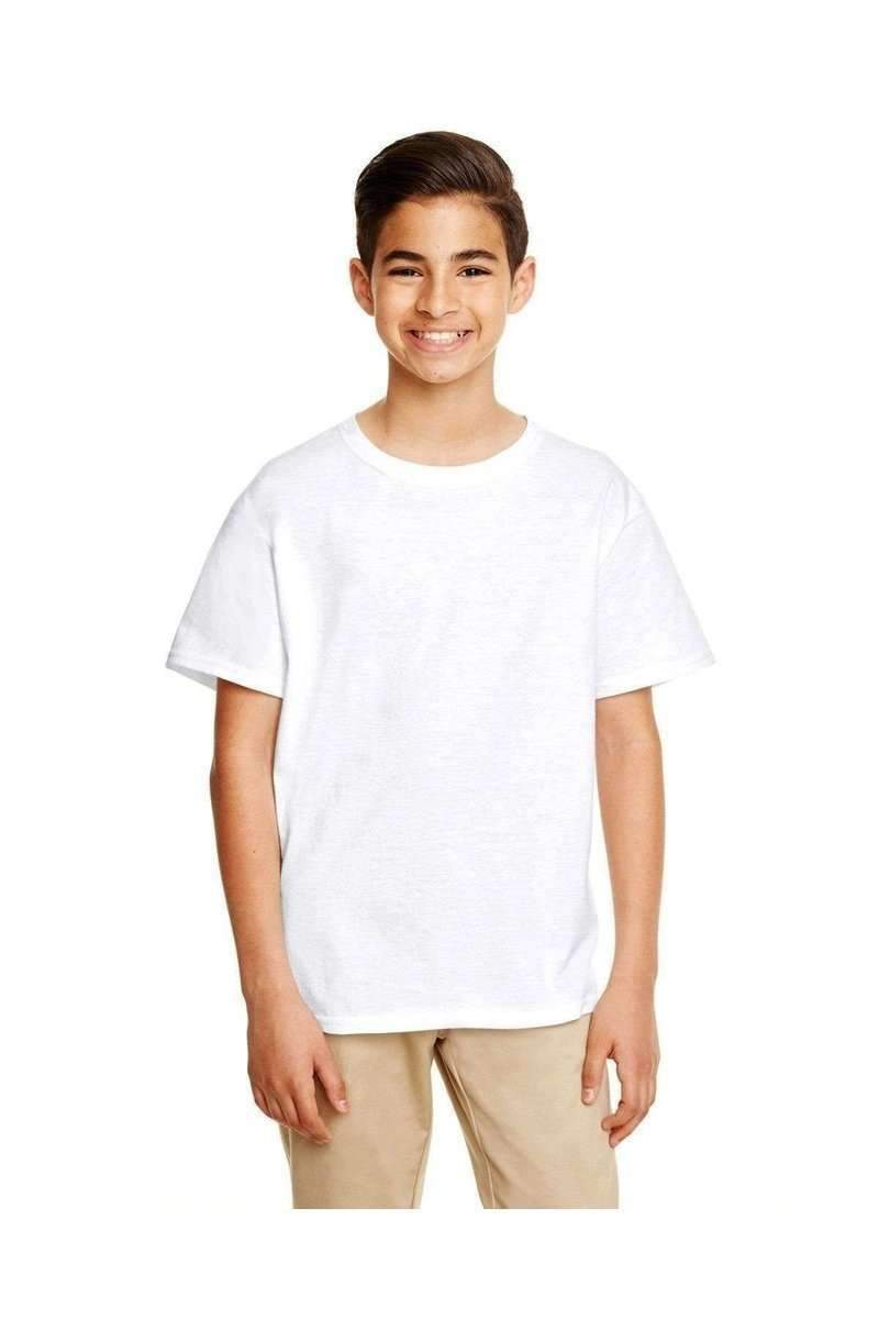 Gildan G645B: Youth Softstyle-Youth T-Shirts-Gildan-XS-White-wholesale t shirts -Bulkthreads.com