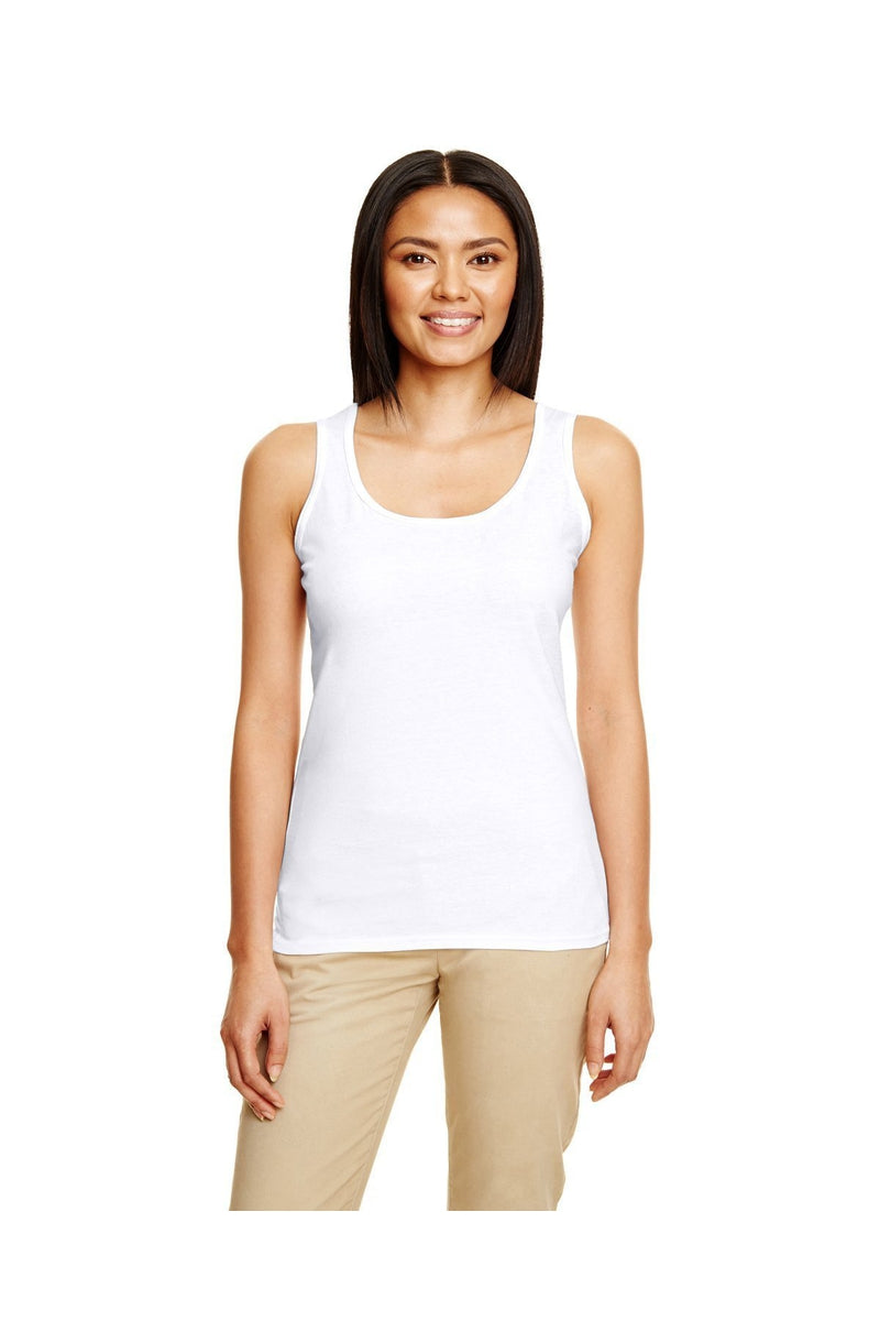 Gildan G645RL: Ladies' Softstyle® 4.5 oz. Racerback Tank-T-Shirts-Bulkthreads.com, Wholesale T-Shirts and Tanks