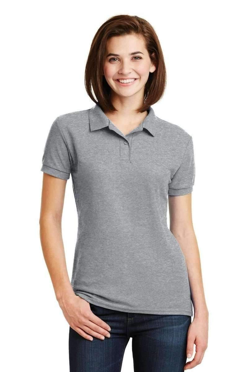 Gildan G728L: Ladies DryBlend 6-Ounce Double Pique Sport Polo Shirt-Ladies-Gildan-Sport Grey-S-wholesale t shirts -Bulkthreads.com