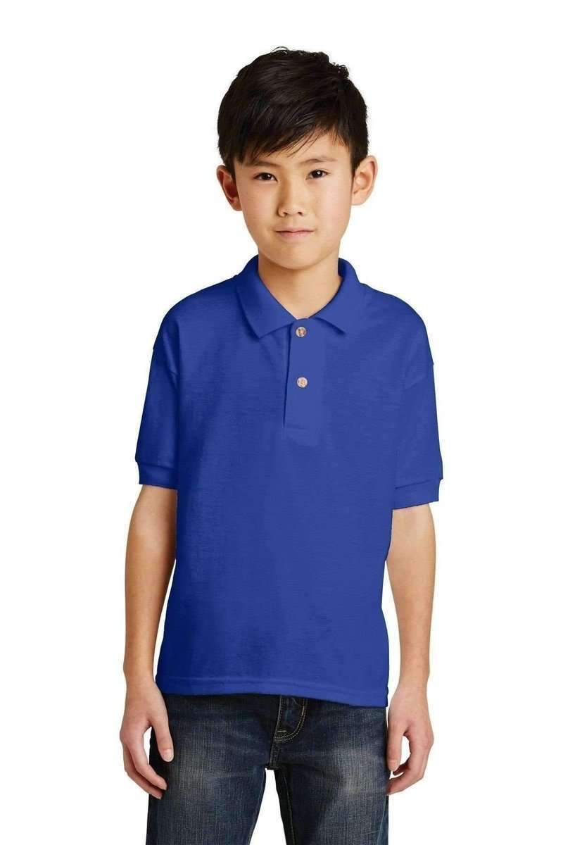 Gildan G880B: Youth DryBlend 6-Ounce Jersey Knit Sport Shirt-Polos/Knits-Gildan-Royal-S-wholesale t shirts -Bulkthreads.com