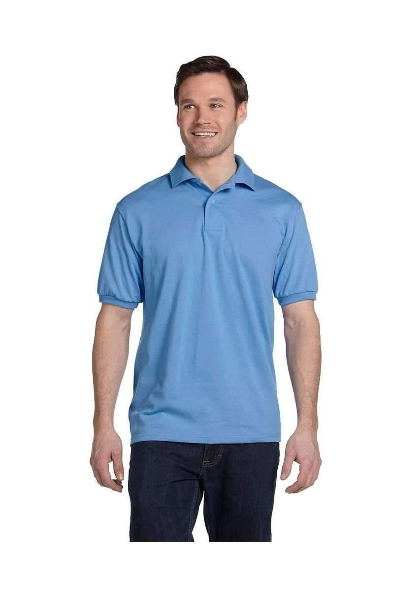 Hanes 054: Jersey-Knit Sport Shirt EcoSmart-Men's Sport Shirt-Hanes-S-Carolina-wholesale t shirts -Bulkthreads.com