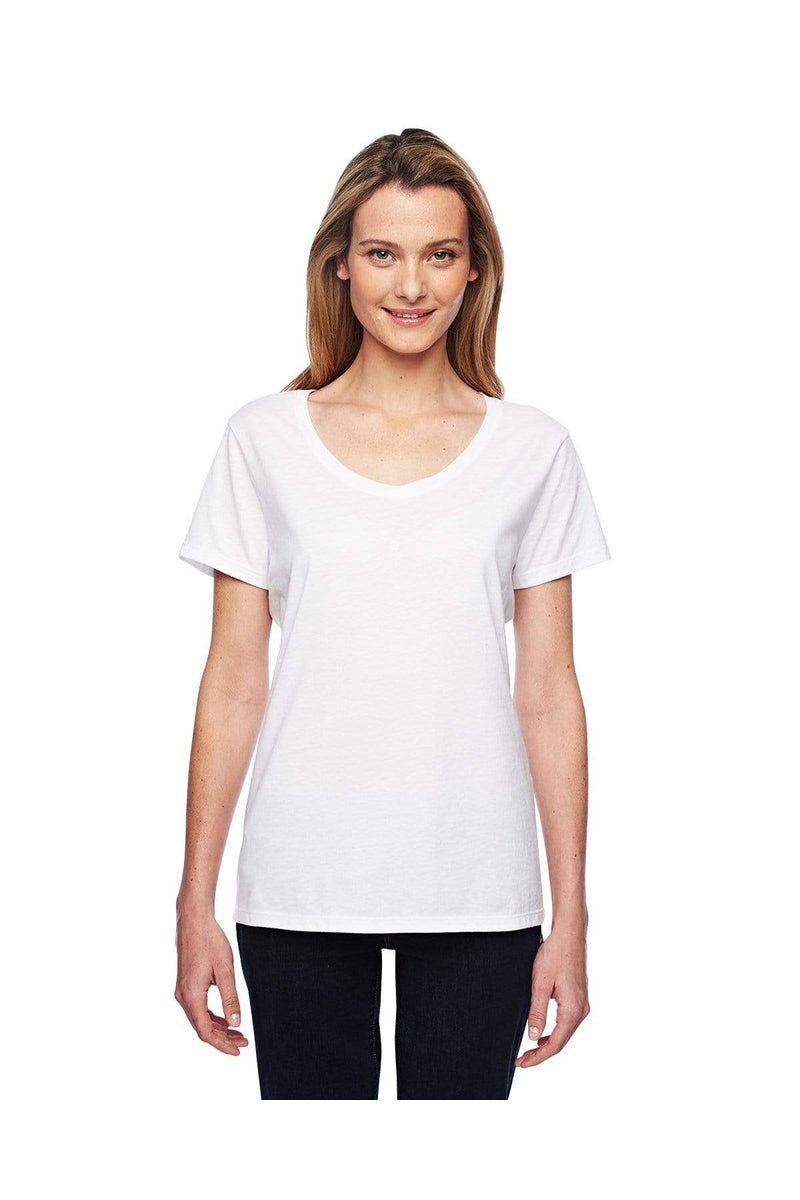 Hanes 42V0: Ladies' 4.5 oz. X-Temp® Performance V-Neck-T-Shirts-Bulkthreads.com, Wholesale T-Shirts and Tanks