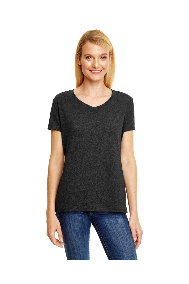 Hanes 42VT: Ladies' X-Temp® Triblend V-Neck T-Shirt-T-Shirts-Bulkthreads.com, Wholesale T-Shirts and Tanks