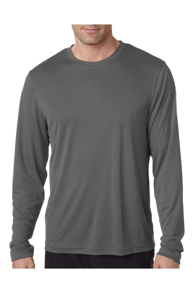 Hanes 482L: Adult Cool DRI® with FreshIQ Long-Sleeve Performance T-Shirt-Hanes-Bulkthreads.com