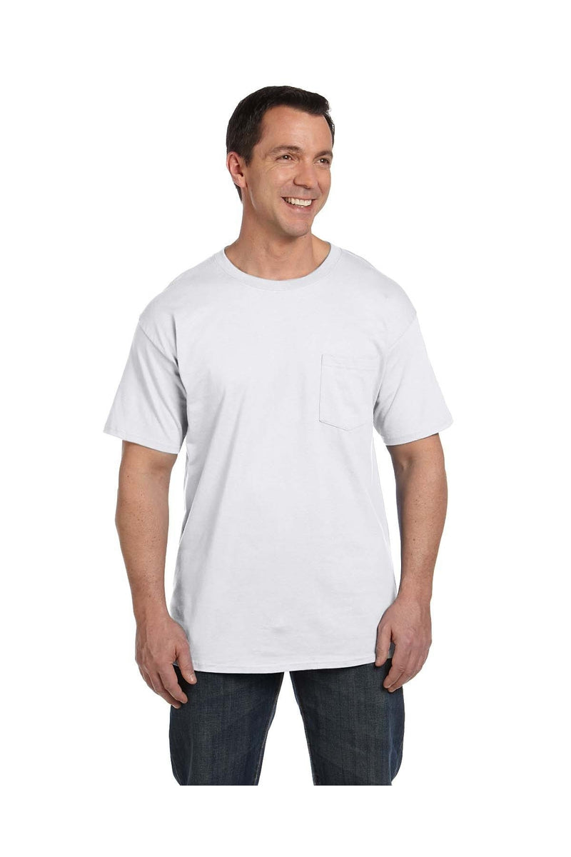 Hanes 5190P: Adult 6.1 oz. Beefy-T® with Pocket-Hanes-Bulkthreads.com