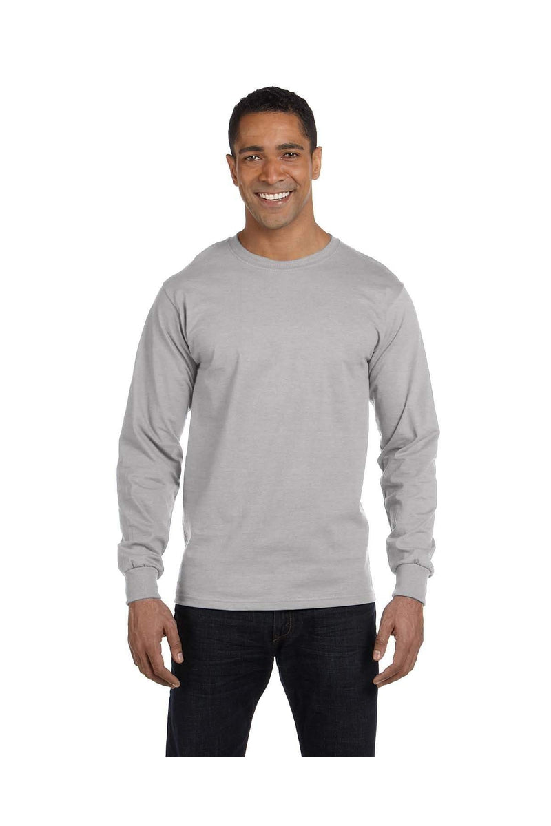 Hanes 5286: Men's 5.2 oz. ComfortSoft® Cotton Long-Sleeve T-Shirt-T-Shirts-Bulkthreads.com, Wholesale T-Shirts and Tanks