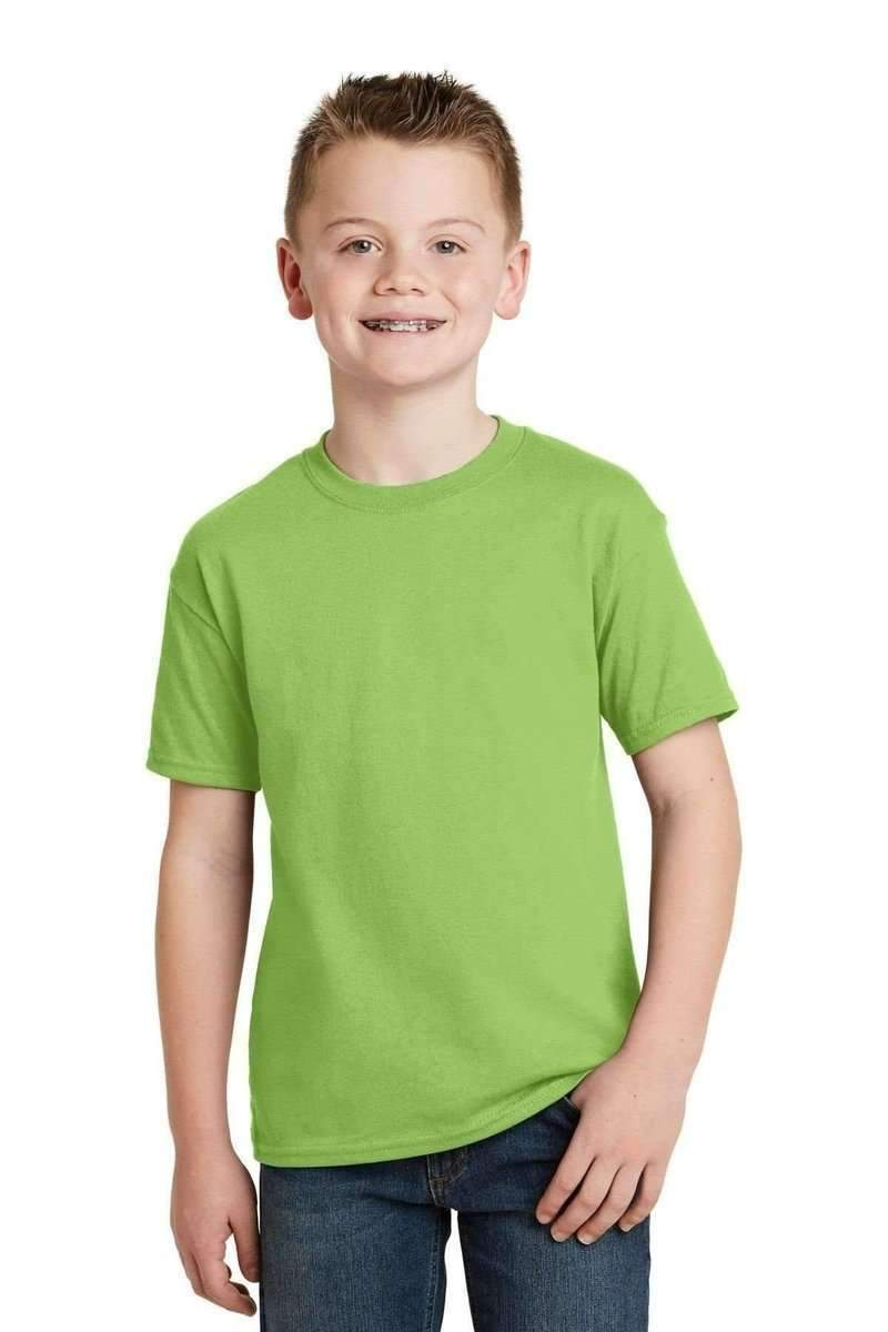 Hanes 5370: Youth EcoSmart 50/50 Cotton/Poly T-Shirt-T-Shirts-Bulkthreads.com, Wholesale T-Shirts and Tanks