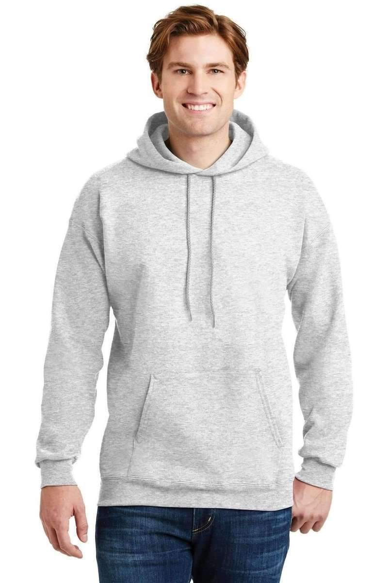 Hanes F170: Ultimate Cotton Pullover Hoodie Sweatshirt-Sweatshirts/Fleece-Hanes-Ash-S-wholesale t shirts -Bulkthreads.com