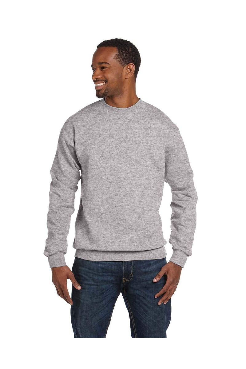 Hanes P1607: Adult 7.8 oz. EcoSmart(r) 50/50 Fleece Crew, Basic Colors-Sweatshirts-Bulkthreads.com, Wholesale T-Shirts and Tanks