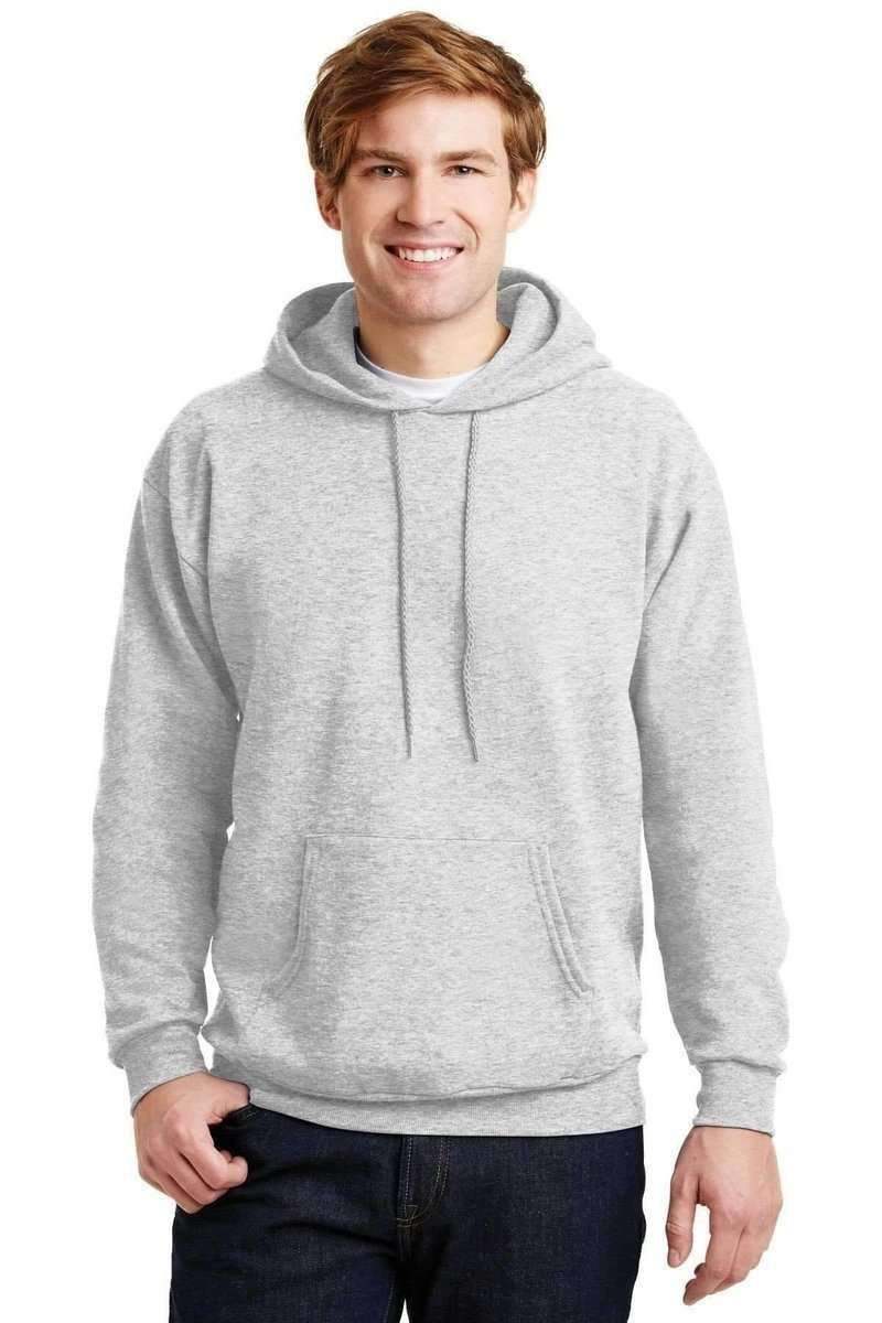 Hanes P170: EcoSmart Pullover Hooded Sweatshirt-Sweatshirts/Fleece-Hanes-Ash-S-wholesale t shirts -Bulkthreads.com