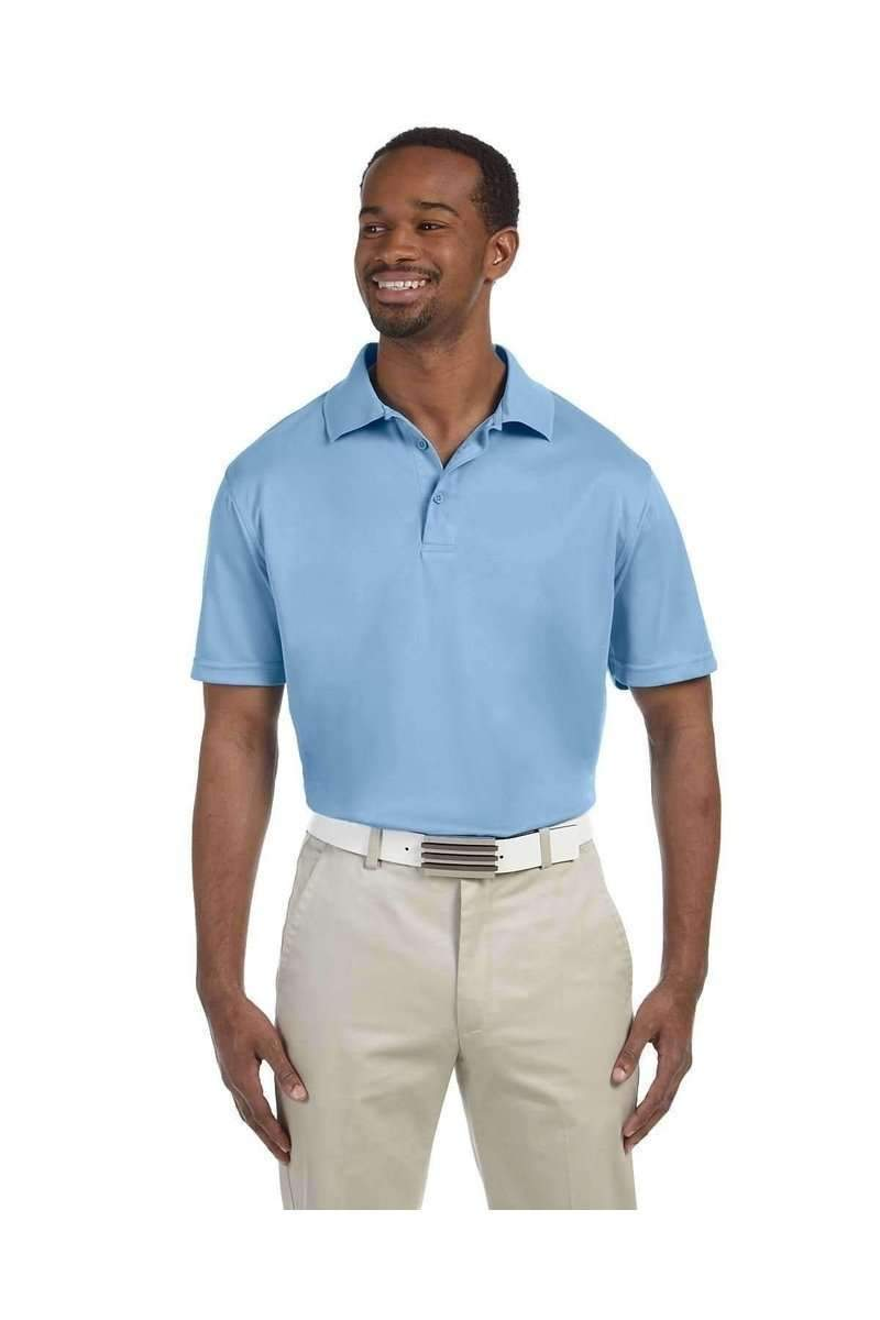 Harriton M315: Men's Polytech Polo-Men's Polo Shirt-Harriton-S-Light Blue-wholesale t shirts -Bulkthreads.com