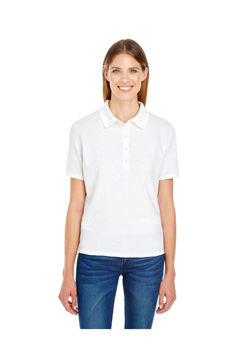 Hanes 035P: Ladies' 6.5 oz. X-Temp(r) Pique Short-Sleeve Polo with Fresh IQ-Polos-Bulkthreads.com, Wholesale T-Shirts and Tanks