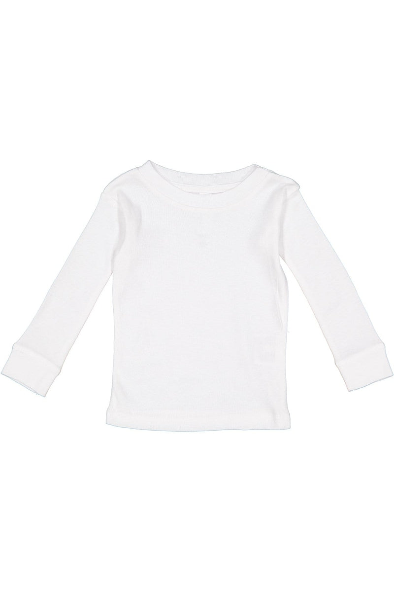 Rabbit Skins 101Z: Infant Long-Sleeve Baby Rib Pajama Top-Infants | Toddlers-Bulkthreads.com, Wholesale T-Shirts and Tanks