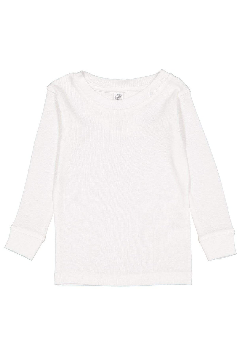 Rabbit Skins 201Z: Toddler Long-Sleeve Baby Rib Pajama Top-Infants | Toddlers-Bulkthreads.com, Wholesale T-Shirts and Tanks