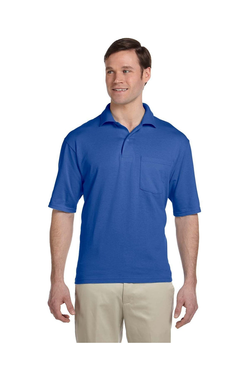 Jerzees 436P: Adult 5.6 oz. SpotShield(tm) Pocket Jersey Polo, Basic Colors-Polos-Bulkthreads.com, Wholesale T-Shirts and Tanks
