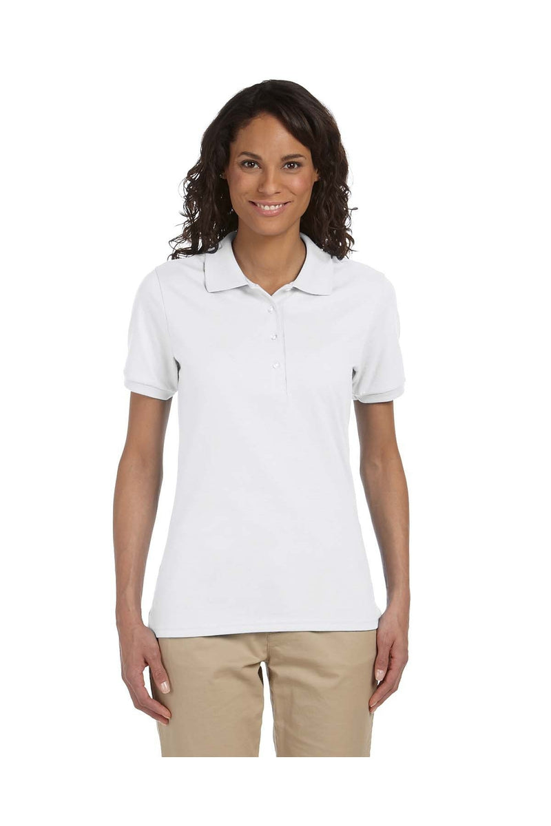 Jerzees 437W: Ladies' 5.6 oz. SpotShield(tm) Jersey Polo-Polos-Bulkthreads.com, Wholesale T-Shirts and Tanks